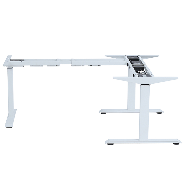 L Shape Corner Desk Dual Motor Lift-up Thriple Motors Standing Desk